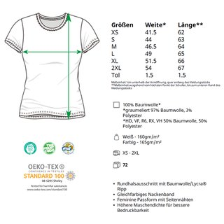 Valueweight  Lady fit T-shirt Girlie Weiß XS Fruit of the Loom
