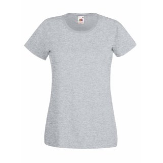 Valueweight  Lady fit T-shirt Girlie Heather grey XL Fruit of the Loom