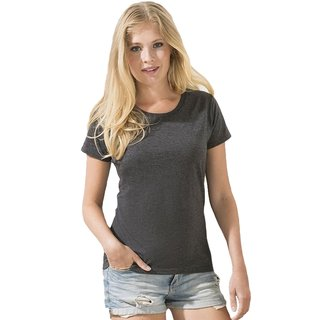 Valueweight  Lady fit T-shirt Girlie Dark Heather grey XS Fruit of the Loom