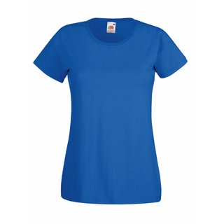 Valueweight  Lady fit T-shirt Girlie Royal Blue XL Fruit of the Loom