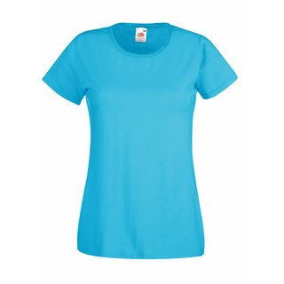 Valueweight  Lady fit T-shirt Girlie Azure Blue M Fruit of the Loom