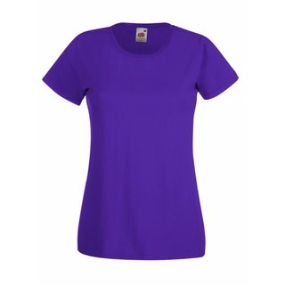 Valueweight  Lady fit T-shirt Girlie Purple M Fruit of the Loom