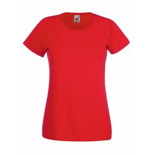Valueweight  Lady fit T-shirt Girlie Red XS Fruit of the Loom