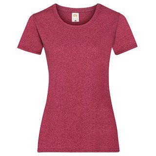 Valueweight  Lady fit T-shirt Girlie Vintage Heather Red XS Fruit of the Loom