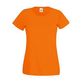 Valueweight  Lady fit T-shirt Girlie Orange S Fruit of the Loom