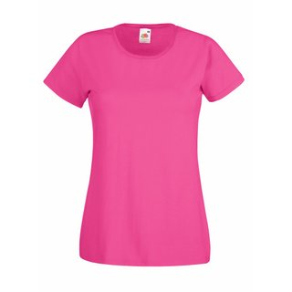 Valueweight  Lady fit T-shirt Girlie Fuchsia L Fruit of the Loom