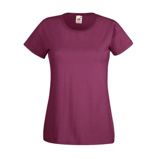Valueweight  Lady fit T-shirt Girlie Burgundy XS Fruit of the Loom
