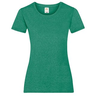 Valueweight  Lady fit T-shirt Girlie Retro Heather Green XXL Fruit of the Loom
