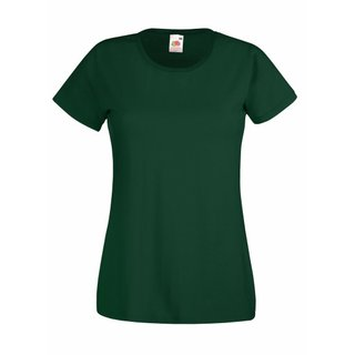 Valueweight  Lady fit T-shirt Girlie Bottle Green L Fruit of the Loom