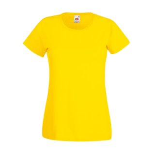 Valueweight  Lady fit T-shirt Girlie Yellow M Fruit of the Loom