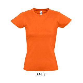 Imperial Women T-Shirt bedrucken Orange L Sol´S