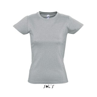Imperial Women T-Shirt bedrucken Grey melange XXL Sol´S