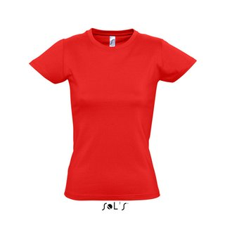 Imperial Women T-Shirt bedrucken Red L Sol´S