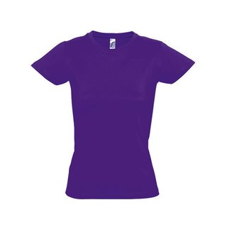 Imperial Women T-Shirt bedrucken Dark Purple XL Sol´S