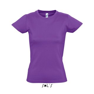 Imperial Women T-Shirt bedrucken Light Purple XL Sol´S