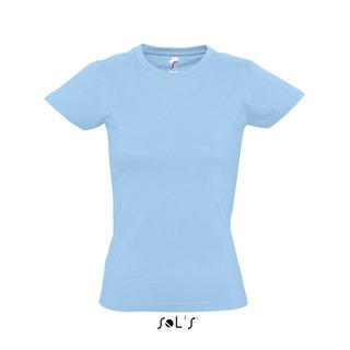 Imperial Women T-Shirt bedrucken Sky blue XL Sol´S