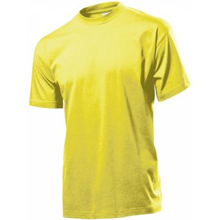 Classic T-Shirt bedrucken Yellow X-Large Stedman
