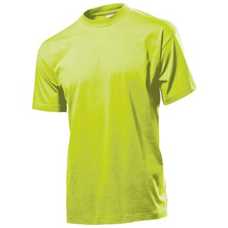 Classic T-Shirt bedrucken Bright lime Large Stedman