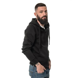 Apparel Heavy Zipped Hoodie bedrucken S Schwarz ROCK-IT