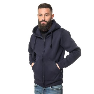 Apparel Heavy Zipped Hoodie bedrucken S Navy ROCK-IT