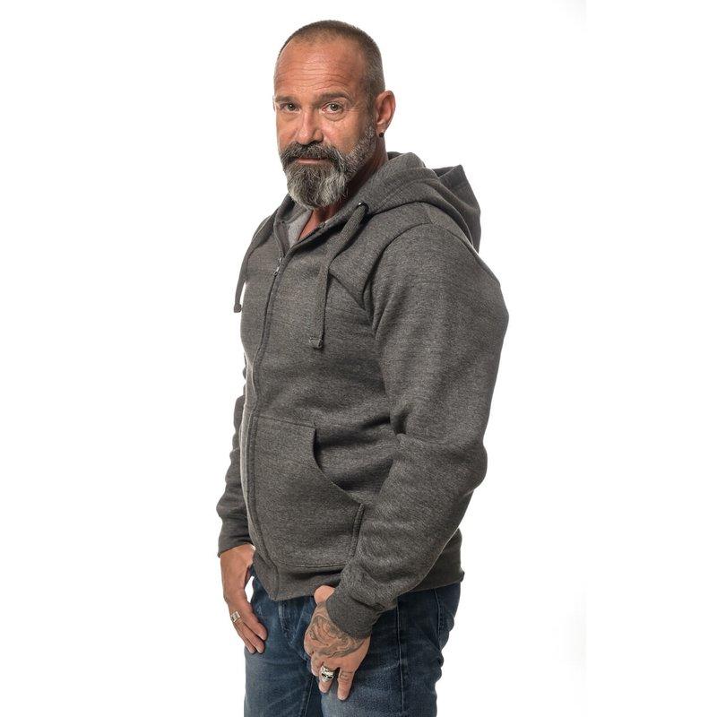 Apparel Heavy Zipped Hoodie bedrucken XL Dark heather Grau ROCK IT