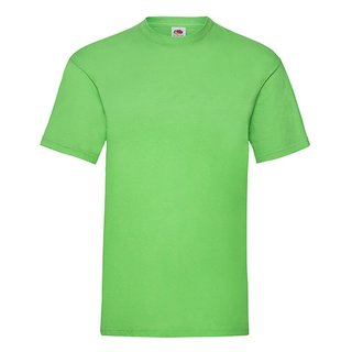 006765fb13924e Fruit of the Loom Valueweight T-Shirt Lime Green XL ...