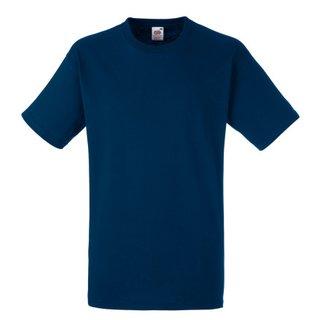 Heavy T-Shirt bedrucken Navy L Fruit of the Loom